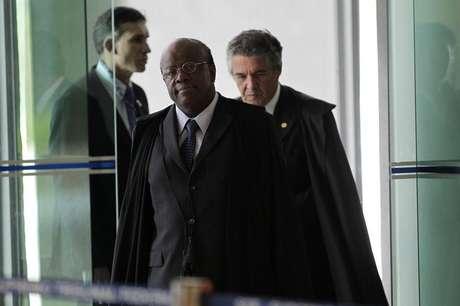 <p>O presidente do STF, Joaquim Barbosa</p>