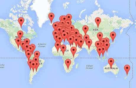 <p>Os eventos para o Dia Mundial de Doenças Raras são realizados em setenta países do mundo, segundo mapa daEurodis</p>