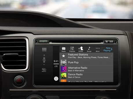 <p>Sistema CarPlay da Apple</p>