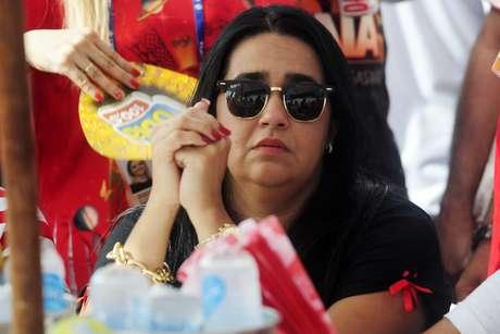 <p>Af&ocirc;nica ap&oacute;s o desfile da escola, a presidente da agremia&ccedil;&atilde;o, Regina Celi, disse que o trabalho foi feito</p>