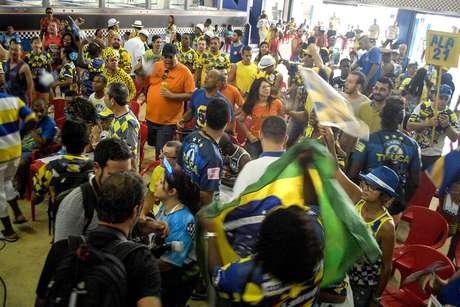 <p>Quadra da Unidos da Tijuca durante a festa pelo título</p>