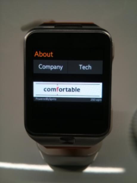 Smart watch da Samsung testou o aplicativo para leitura de e-mails