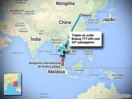 <p>O avi&atilde;o da Malaysia Airlines desapareceu com 239 pessoas a bordo</p>