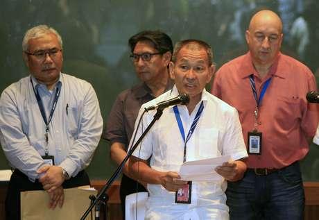 Ahmad Jauhari Yahyain, chefe-executivo do Grupo Malaysian Airlines, confirma a perda de contato com o Boeing 777-200