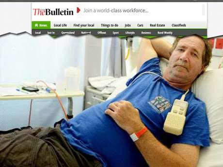 O australiano Rod Sommerville, 54 anos, estava andando em seu jardim na cidade de Yeppoon quando foi picado por uma cobra do tipo marrom oriental