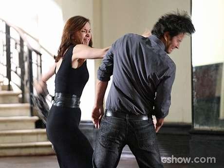 <p>Em cena exibida em fevereiro, Laerte culpou Helena por ciúme que ele sentia, os dois trocaram farpas e tapas</p>