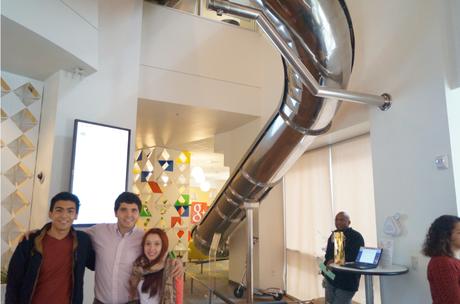 El primer destino fue las oficinas de la multinacional Google.