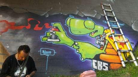 <p>Radicado em São Paulo, Binho Ribeiro foi um dos artistas convidados para o evento</p>