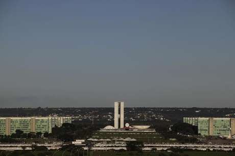 <p>Esplanada dos Minist&eacute;rios e Congresso Nacional, em Bras&iacute;lia</p>