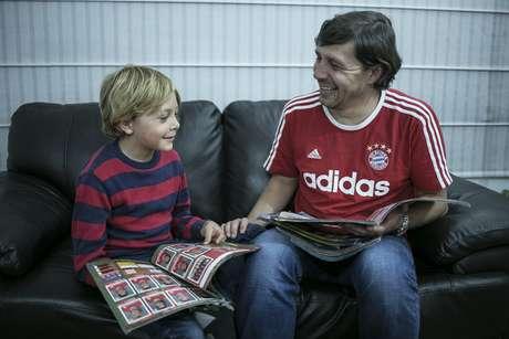 <p>Generaciones unidas por el fútbol.</p>