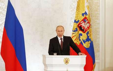"""Putin falou nesta terça-feira em Moscou que a """"Crimeia sempre foi e seguirá sendo parte de seu país"""""""