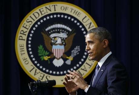 """<p class=""""text"""">Obama declarou que os EUAreforçarão as ações diplomáticas para pressionar a Rússia a aliviar o controle sobre a região da Crimeia</p>"""