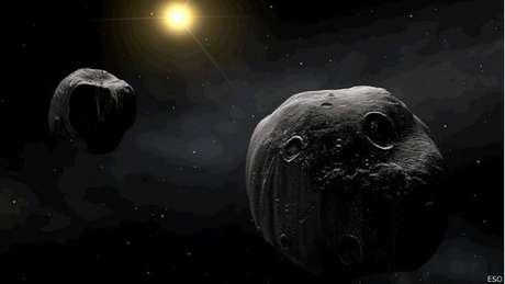 Imagem ilustrada do European Southern Observatory