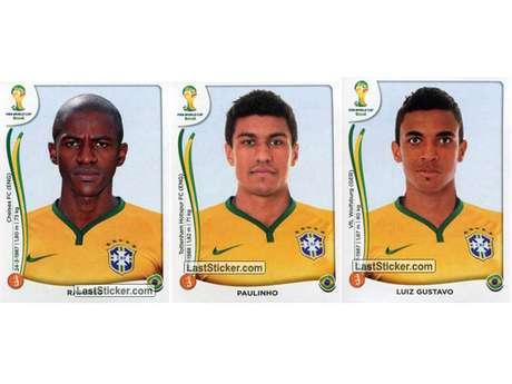 Ramires, Paulinho e Luiz Gustavo