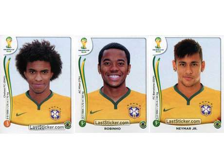 Willian, Robinho e Neymar