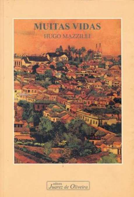 Capa do livro Muitas Vidas, editado em 1998 por Hugo Mazzilli