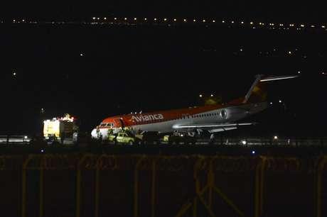 Um avião da companhia Avianca fez um pouso forçado no Aeroporto Internacional Juscelino Kubitschek