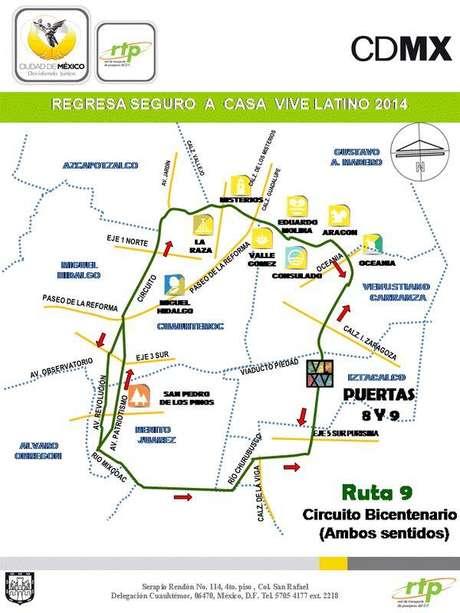 Circuito Bicentenario : Dirección y rutas para llegar al foro sol en metro o auto