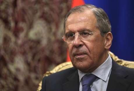 O chanceler russo, Sergei Lavrov, durante reunião em março, em Moscou. O chanceler disse nesta quinta-feira que a Rússia espera respostas da Otan a respeito das suas atividades no Leste Europeu. 28/03/2014
