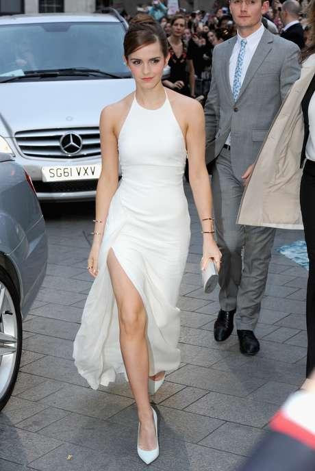 Emma Watson ao chegar na première de 'Noé' em Londres