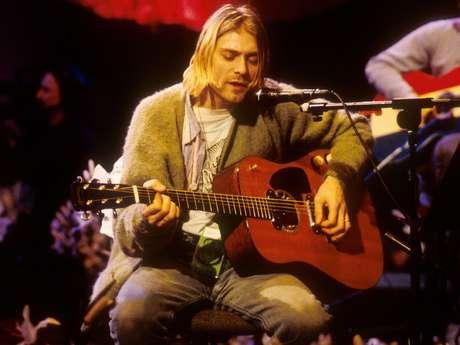 <p>Kurt Cobain fue una estrella en el firmamento musical que se extinguió rápidamente.</p>