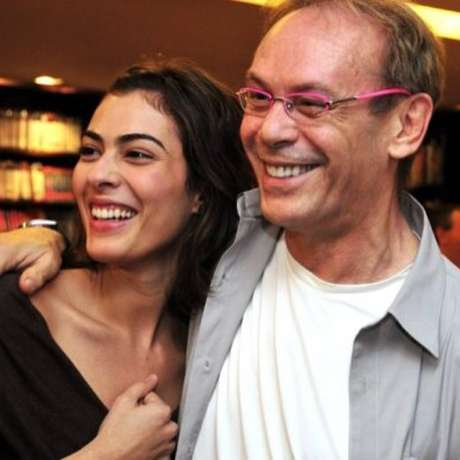 Isabel e o pai, o ator José Wilker