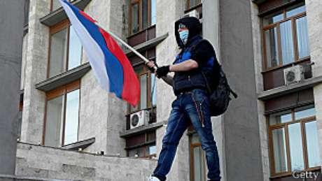 Manifestantes são minoria em Donetsk