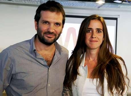 Lorena Suárez y Andrés Saborido.