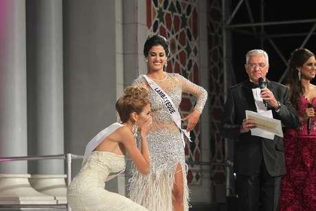 <p>Jimena Espinoza y Ximena Montenegro en el Miss Perú Universo 2014.</p>