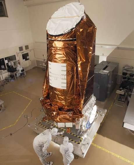 Foto do telescópio Kepler usado em missões da Nasa