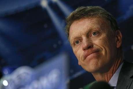 Técnico do Manchester United, David Moyes, durante coletiva de imprensa em Old Trafford, Manchester. A conturbada passagem de David Moyes pelo Manchester United terminou abruptamente nesta terça-feira, quando o escocês foi demitido após frustrantes dez meses no cargo de treinador. 31/03/2014.