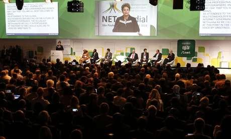 <p>Público do evento durante discurso da presidente Dilma Rousseff</p>