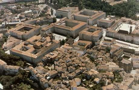 Vista aérea de um dos pólos da Universidade de Coimbra. É a primeira vez que uma instituição estrangeira utiliza o Enem como critério de seleção