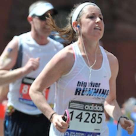 <p>Una de las corredoras que corrió con el dorsal falso.</p>