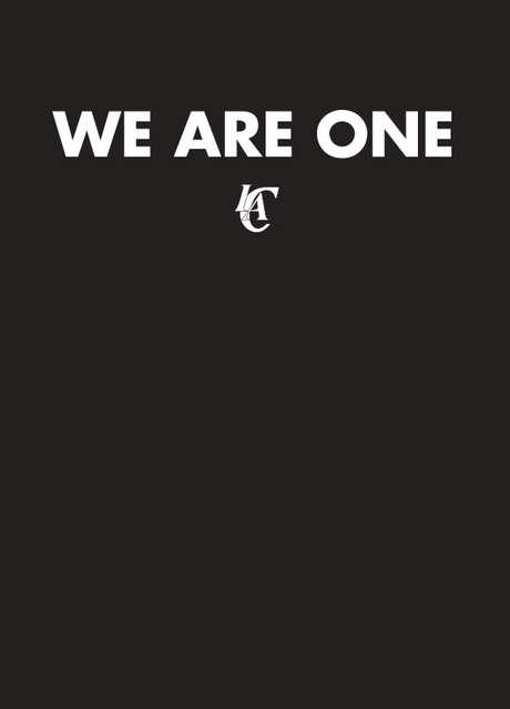 """<p>Site do Los Angeles Clippers exibia apenas uma mensagem """"Somos um só"""" após notícia</p>"""