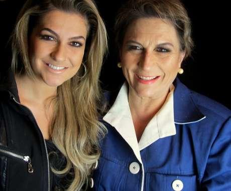 Margarete Salazar foi maquiada por sua filha, a blogueira Alice Salazar
