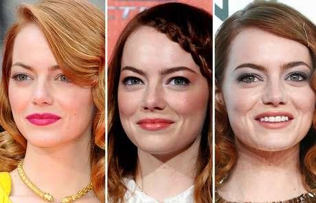 A atriz Emma Stone, estrela do novo filme O Espetacular Homem-Aranha 2  A Ameaça de Electro, sabe usar truques de maquiagem para valorizar os olhos