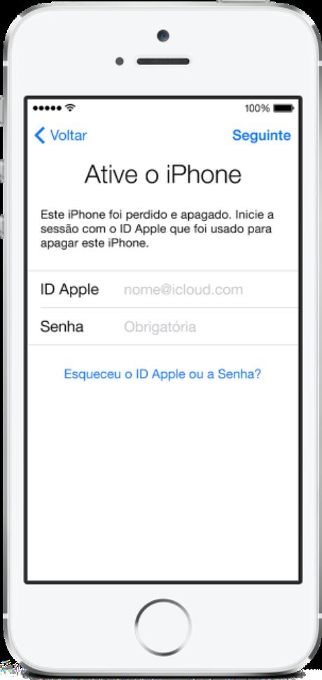 """Aplicativos como o """"buscar iPhone"""", da Apple, são usados para rastrear o celular roubado"""