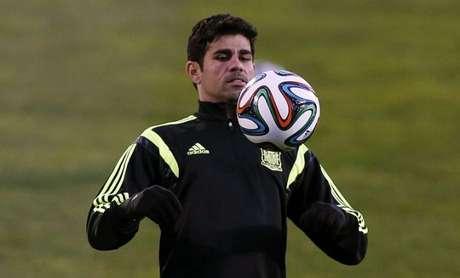 <p>Brasileiro de nascença, Diego Costa é o principal nome do ataque espanhol</p>