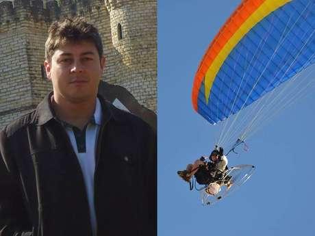 Denio Darlan Bianchini da Silva (E), 26 anos, e Mateus Dias San Martin, 38 anos, morreram na queda de um avião de instrução em Cachoeira do Sul