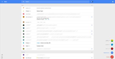 """A versão de testes da aplicação aparece """"mais limpa"""" e substitui a barra lateral por uma barra única no alto da tela"""