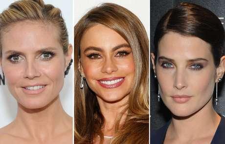 A maquiagem clássica, como os looks de Heidi Klum, Sofia Vergara e Cobie Smulders, deixa a noiva bonita, sem parecer que está tão maquiada