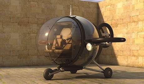 <p>Fly Citycopterlembra o veículo utilizado pelos Jetsons</p>