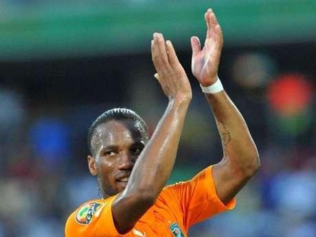 Didier Drogba é a grande estrela da seleção marfinense
