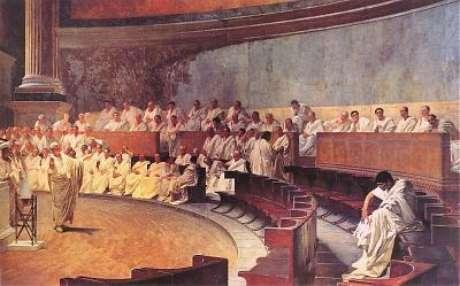 <p>Cícero acusando Catilina</p>
