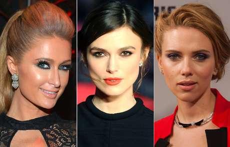 <p>Paris Hilton, Keira Knightley e Scarlett Johansson são adeptas da técnica <em>smokey eyes</em> para valorizar o olhar</p>