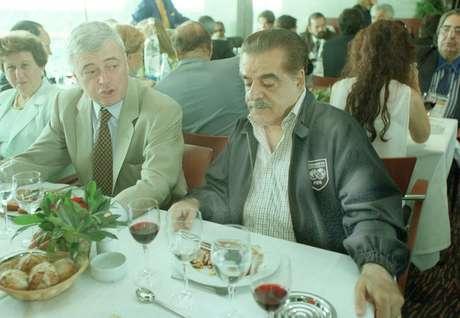 Eduardo José Farah ao lado de Ricardo Teixeira em 1998