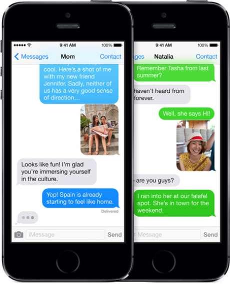 Sistema de mensagens do iPhone, iMessage impossibilitou mulher de receber de amigos que possuem o smartphone da Apple