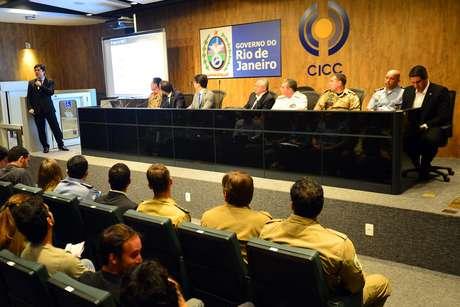 Coletiva de apresentação do plano de segurança que será implantado durante a Copa