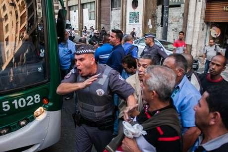 Protesto causo recorde de lentidão na cidade neste ano - 261 km às 19h